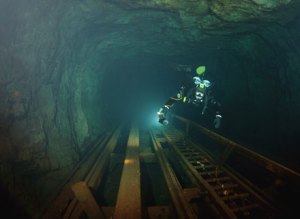 Diving a flooded mine, Photo: Nicklas Myrin, www.sweden.se