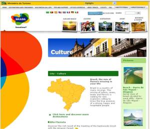 Official Brazilian tourism website provides information for visitors.
